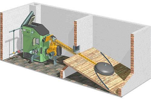 grundlagen hackschnitzelheizung trocknung lagerung lagerein und lageraustragesysteme. Black Bedroom Furniture Sets. Home Design Ideas